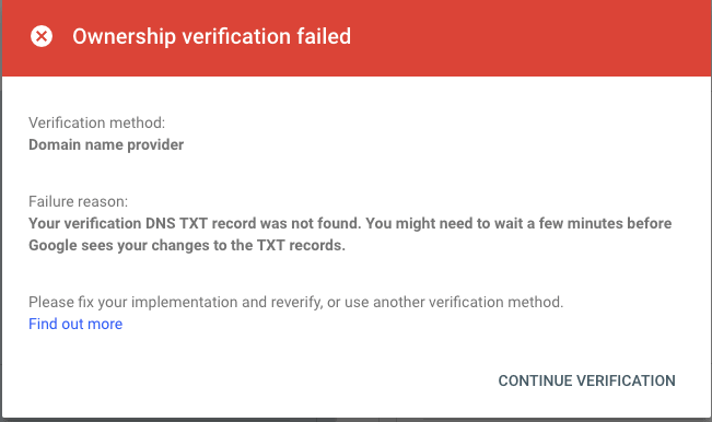 google-earch-console-domain-ownership-verification-failed-min