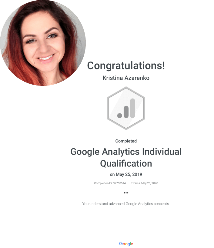 Why Choose Me Kristina Azarenko Analytics