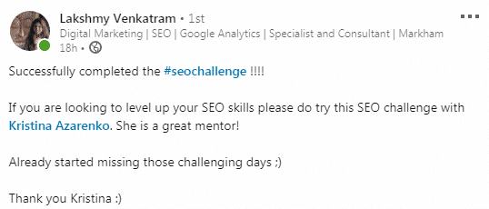 seo challenge review