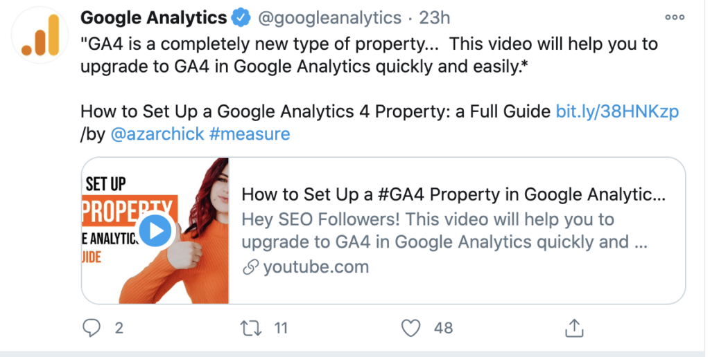 Google Analytics shared GA4 property video
