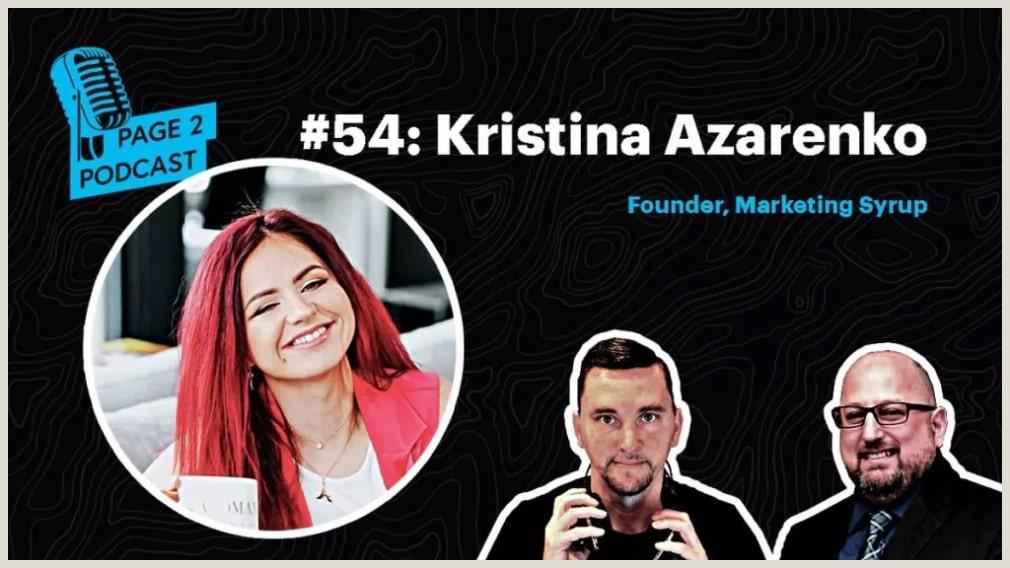 The Page 2 Podcast: An SEO Podcast #54 - Kristina Azarenko